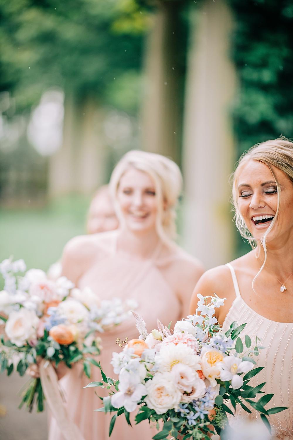 Blush & light blue pastel summer wedding at Eolia Mansion