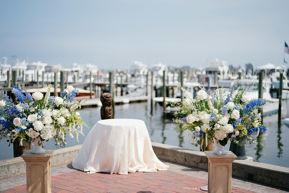 Ceremony flowers at Saybrook Point Inn & Spa