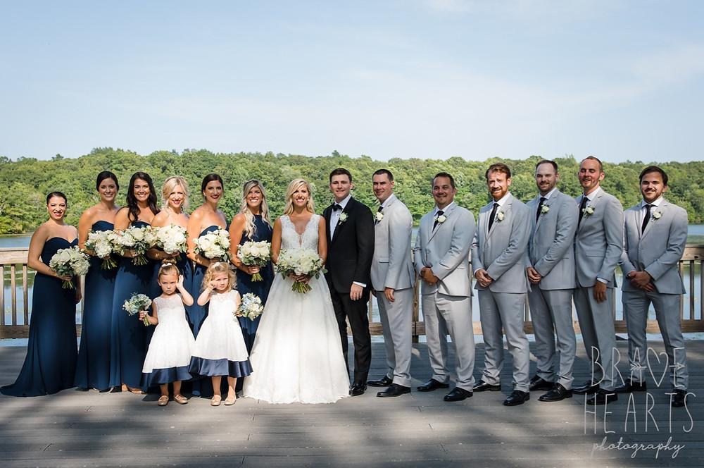 Bridal party at Lake of Isles