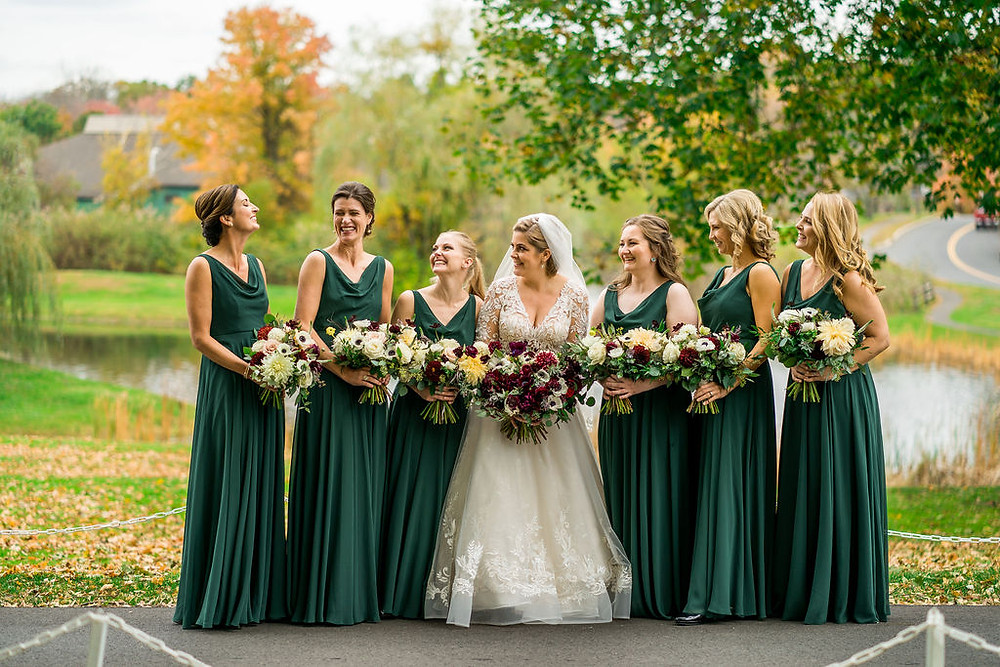 Jewel Toned Wedding at The Barn