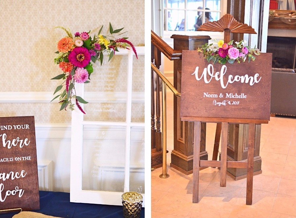 Colorful Summer Wedding at Madison Beach Hotel | DIY Welcomeboard & Seating chart