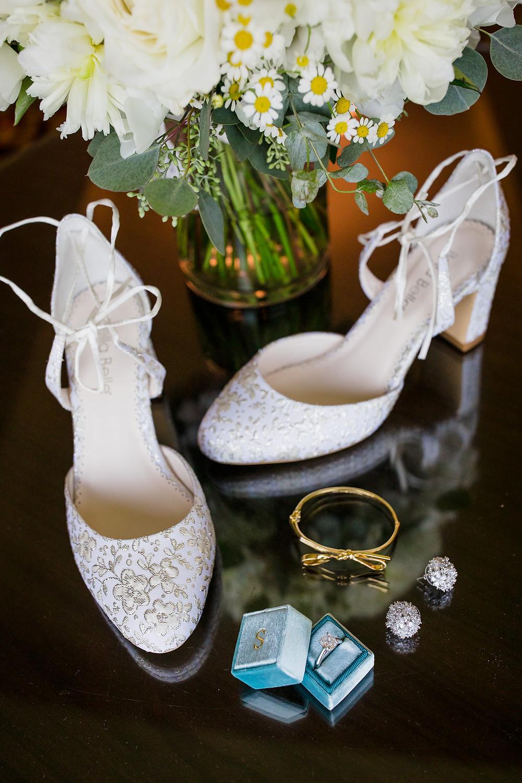 Bella Belle shose and wedding rings