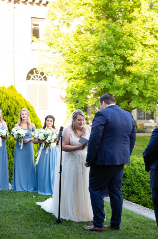 Wedding ceremony at Eolia Mansion, Harkness State