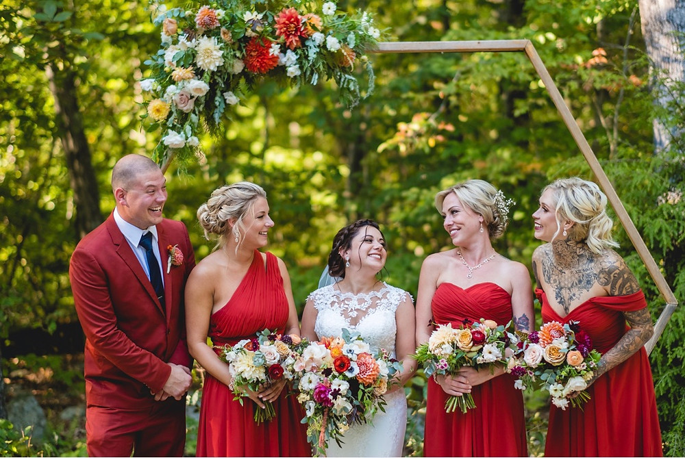 Orange Dahlia Wedding at Chatfield Hollow Inn