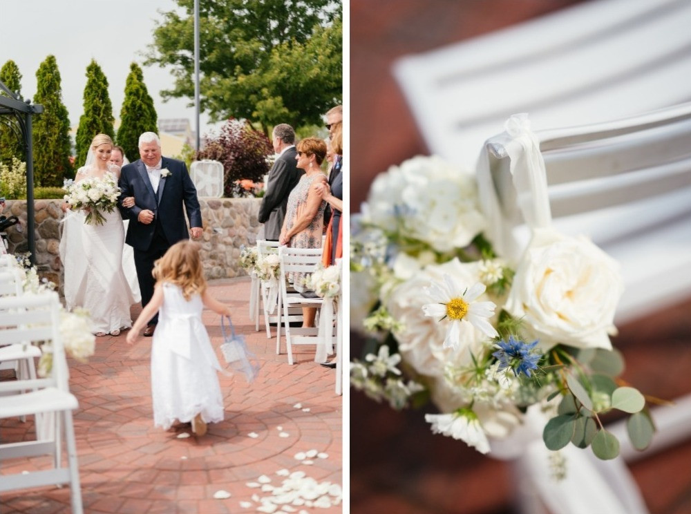 Ceremony chair decorations at Saybrook Point Inn & Spa