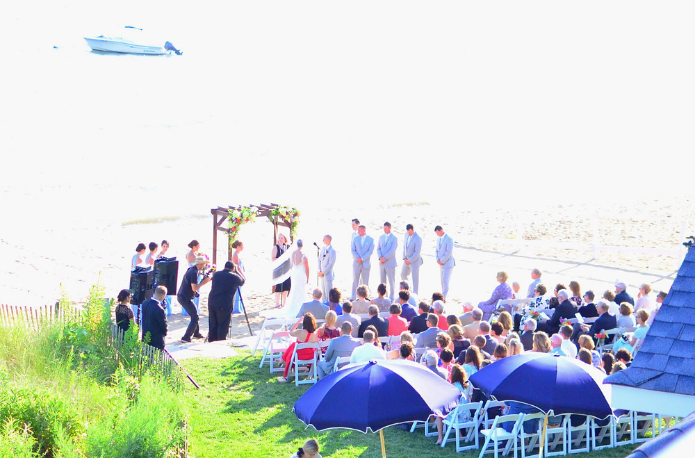 Colorful Summer Wedding at Madison Beach Hotel | Ceremony