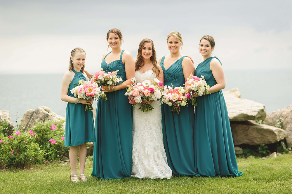 Gaden style wedding bouquet in Guilford, CT