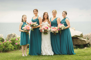 Coral Peony + Teal Wedding at The Woodwinds
