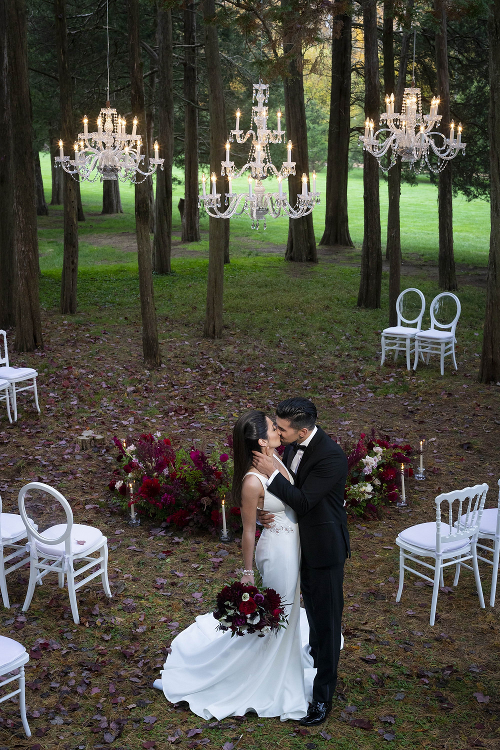 Ceremony flowers at Wadsworth Mansion