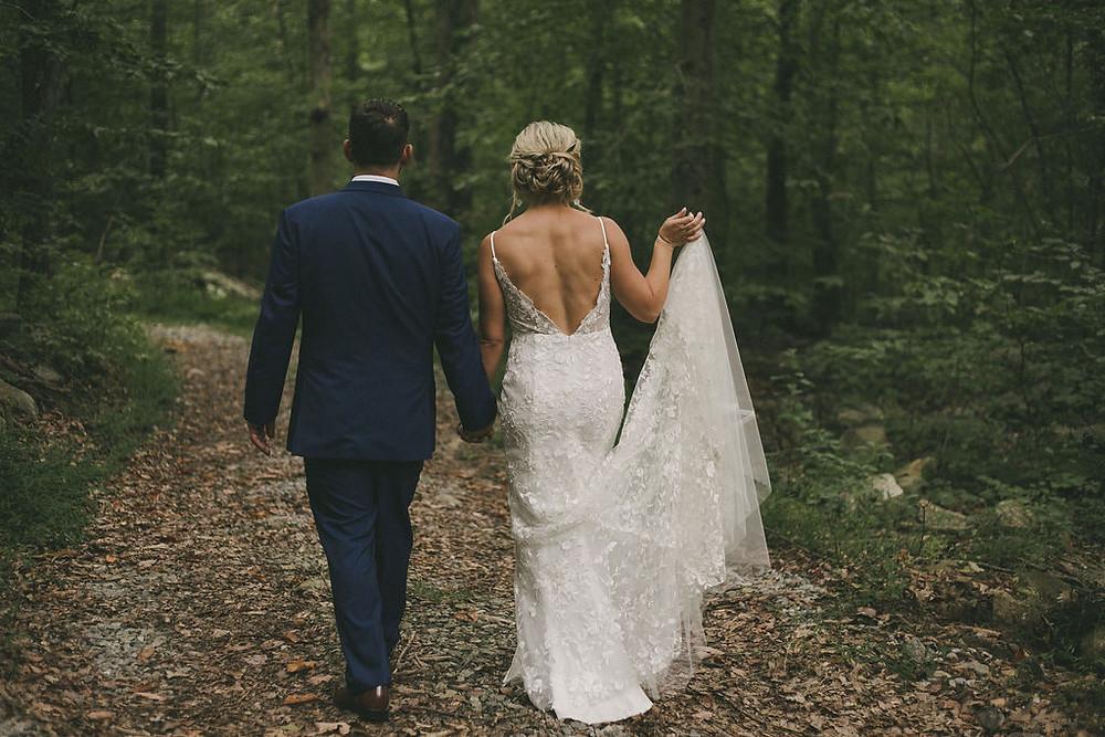 White rustic bohemian wedding at Chatfield Hollow Inn
