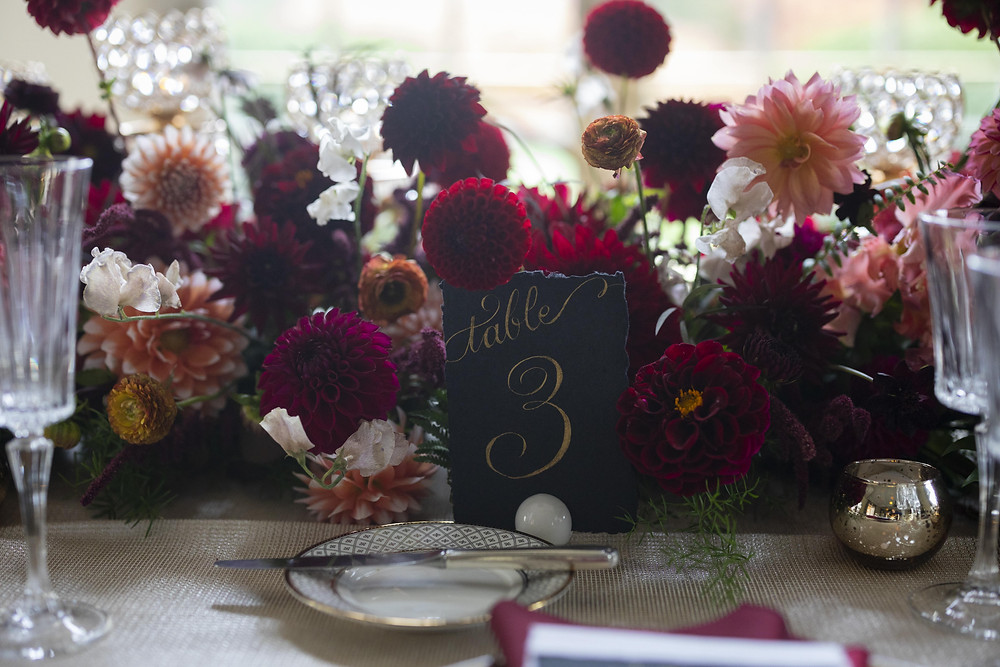 Table decor at Wadsworth Mansion
