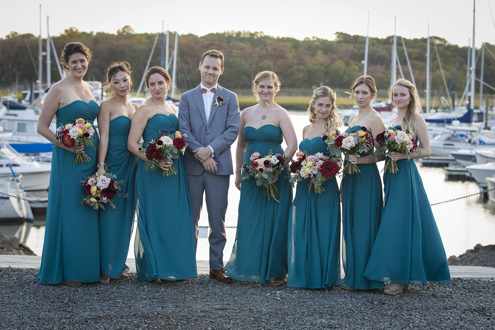 Burgundy Guilford Yacht Wedding