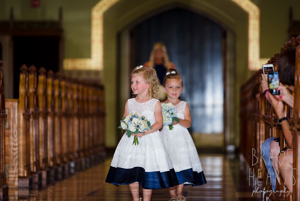 Flower girls with mini bouquets