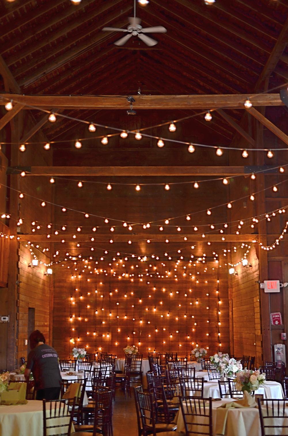Blush Summer Wedding at The Barns | Reception
