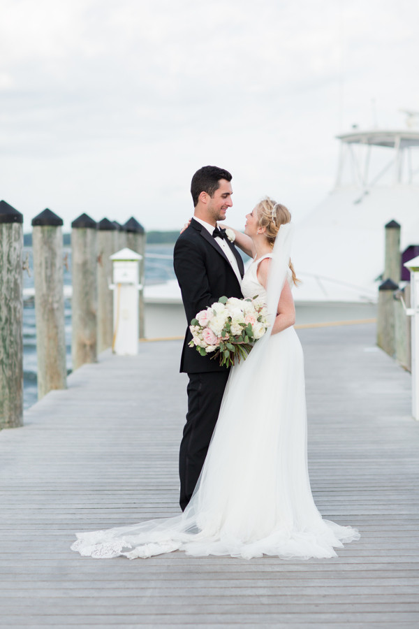 Bride and Groom at Saybrook Point Inn and Spa