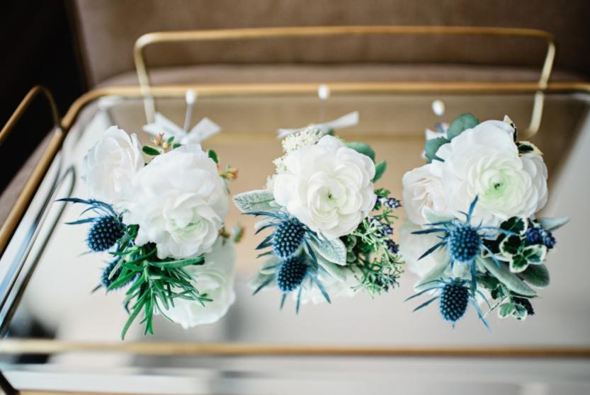 NY Style Classic Peony Wedding | Boutonnieres