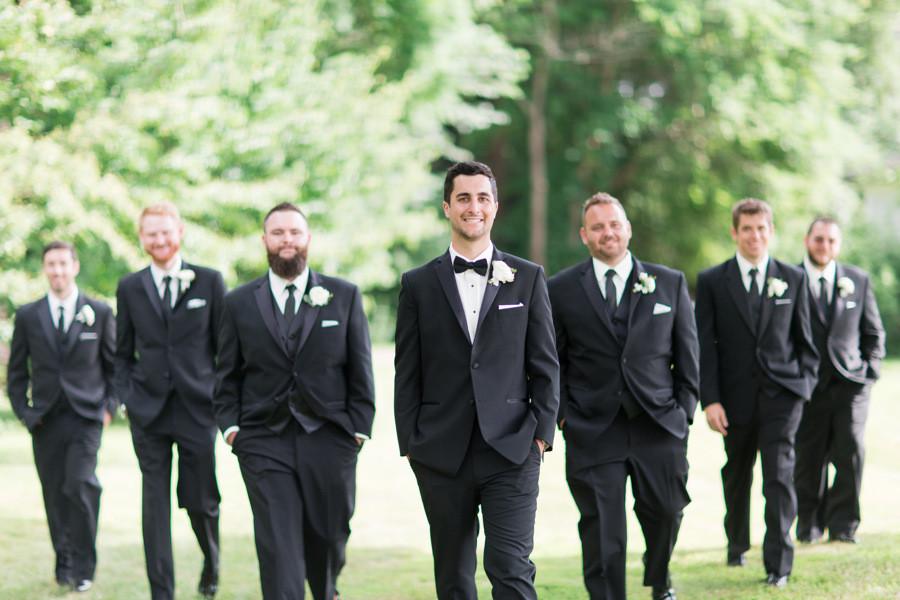 Groom and groom's men