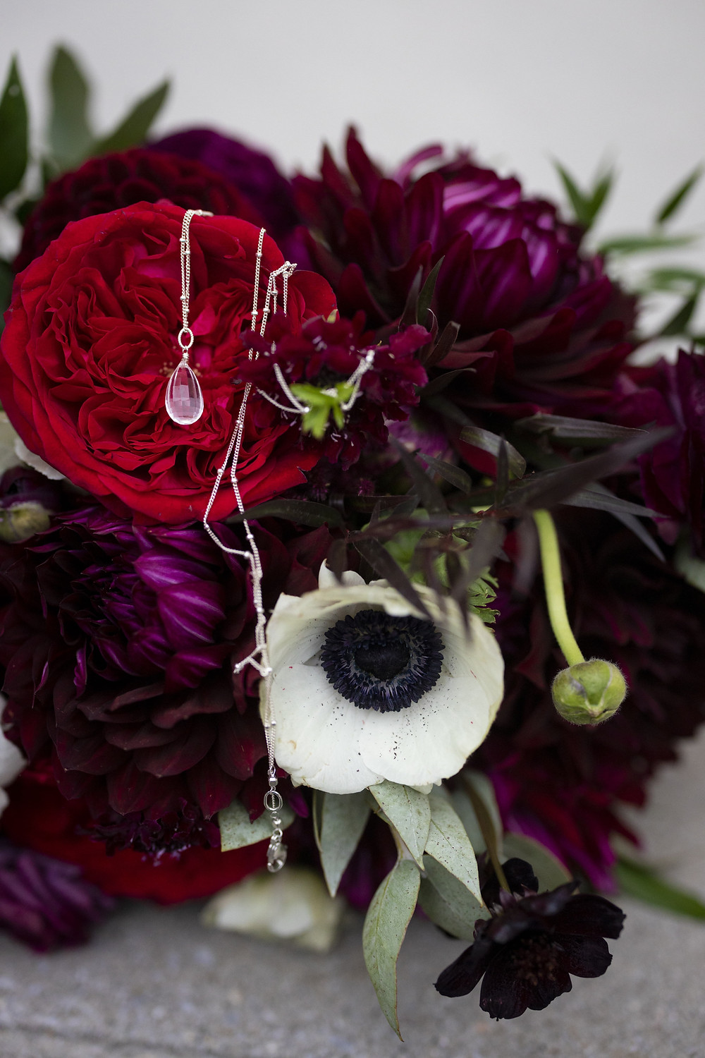 Jewelry with bouquet