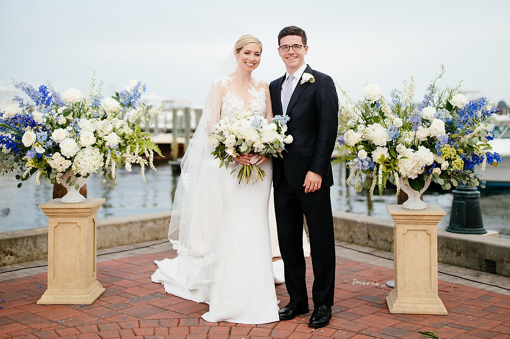 Wedding ceremony at Saybrook Point Inn & Spa