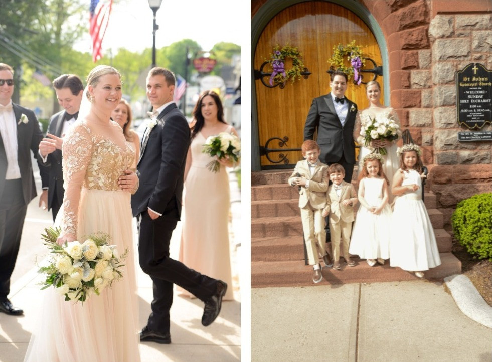 Wedding ceremony at St. John Episcopal Church in Essex