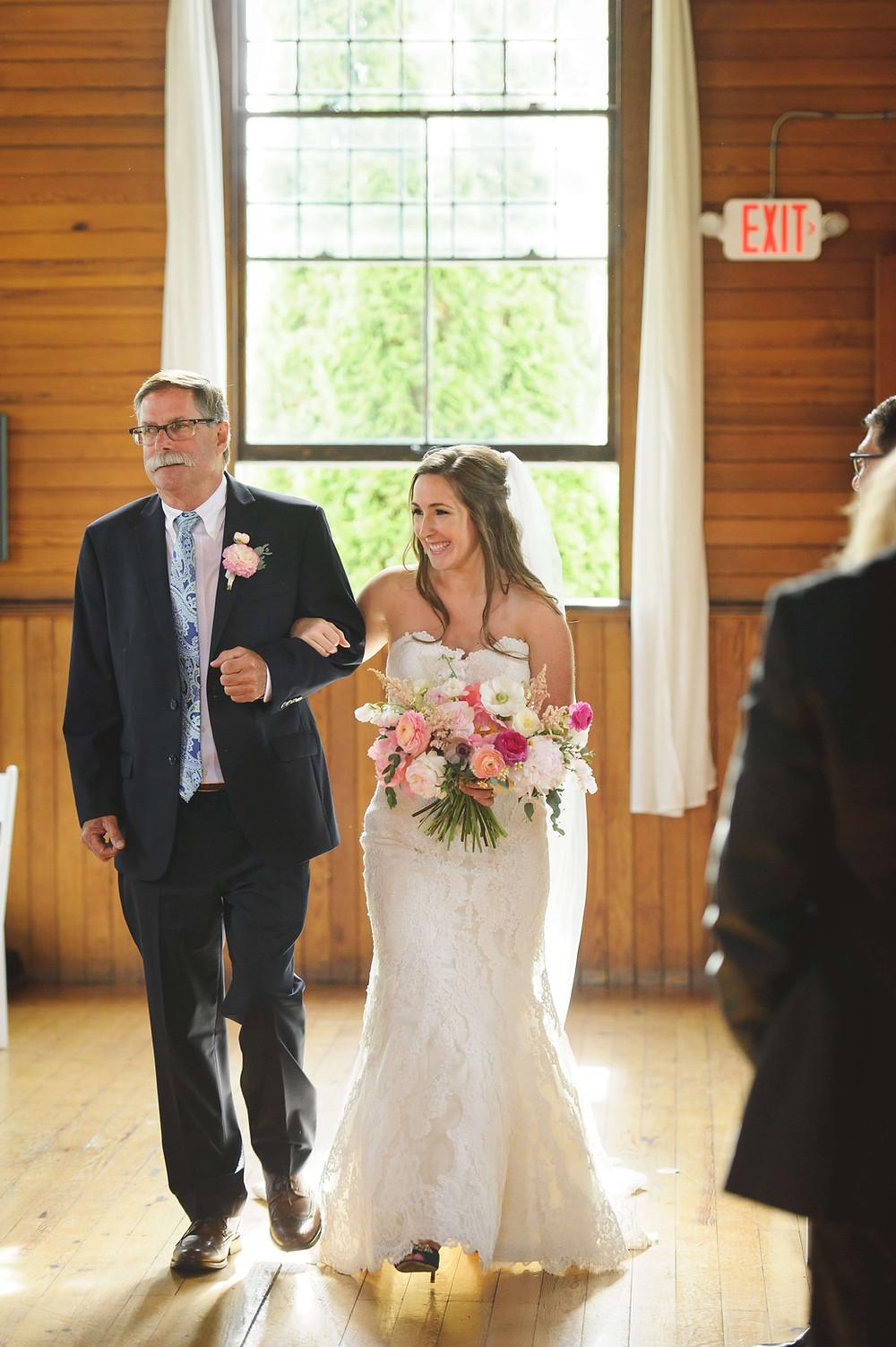 Wedding ceremony in Branford chapel