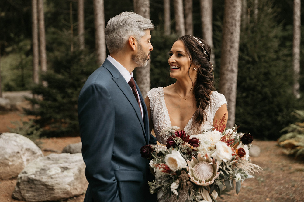 Burgundy Boho Wedding at Chatfield Hollow Inn