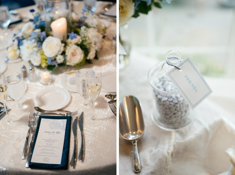 Centerpieces and desert table