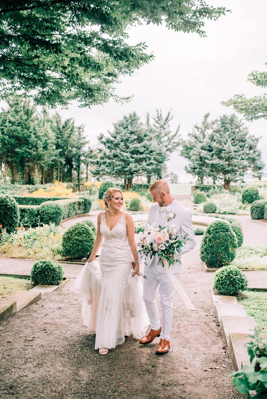 Blush & light blue pastel summer wedding photoshoot at Eolia Mansion
