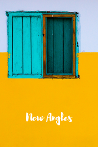 Photo by Gareth Harper. No door? Maybe there's a different way in. <<Aqua window on a bright yellow and white wall>>