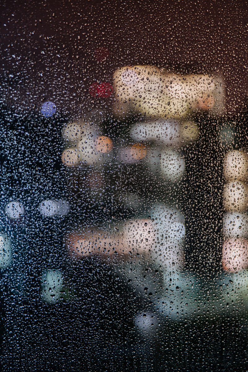 Rain blurring scene. Represents the uncertainty of emotional experience. Photo by Max Hofstetter via @Unsplash
