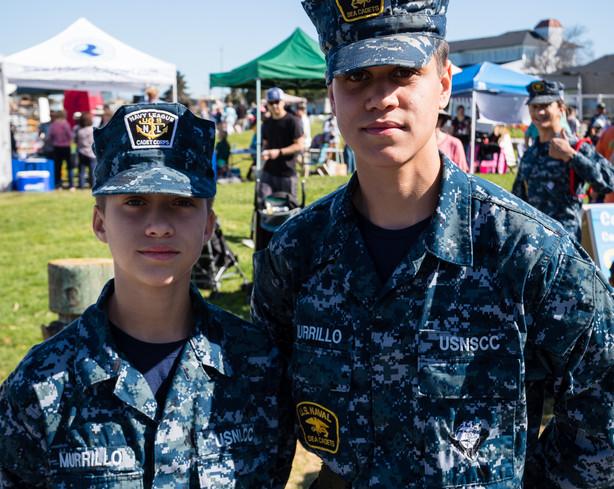 U.S. Naval Cadets at PortFest 2019