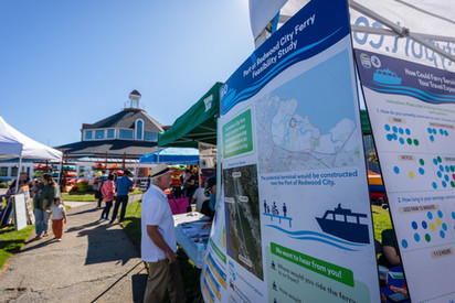 Port of Redwood City Tent at PortFest 20