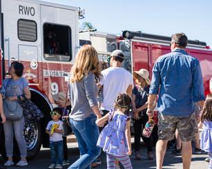 Family Observing Redwood City Fire Depar