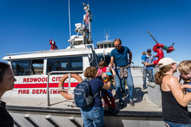 Boarding the Redwood Fire Department's B