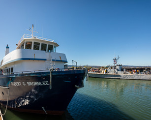 Marine Science Institute Boat on the Por