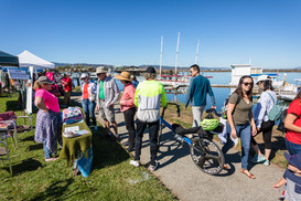 Visiting the Booths at PortFest 2019