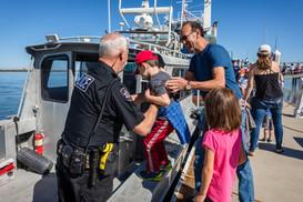 Boarding the Redwood City Police Departm