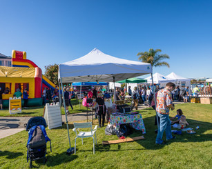 Bounce House and Tents at PortFest 2019