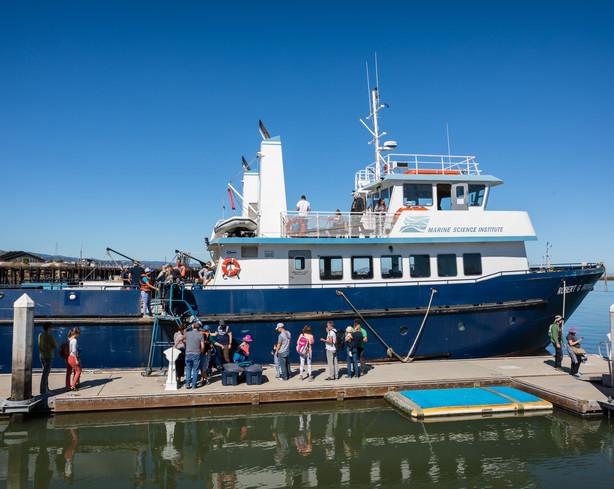 Touring the Marine Science Institute Boa