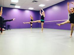 Hard working ballerinas!