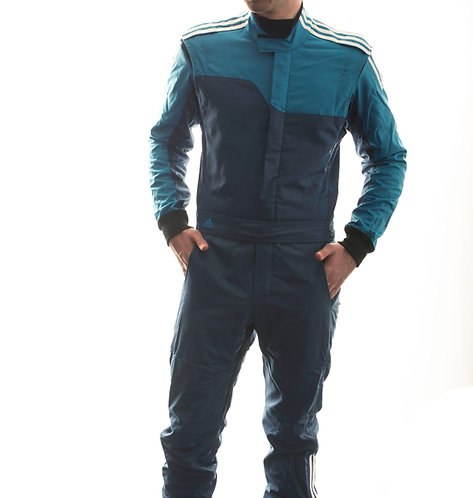 adidas RS ClimaLite® Race Suit Blue/Cyan