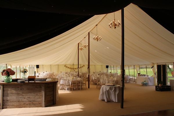 Traditional Marquee with rustic bar