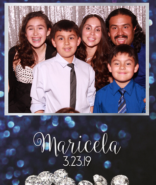 Quinceañera photo booth fun