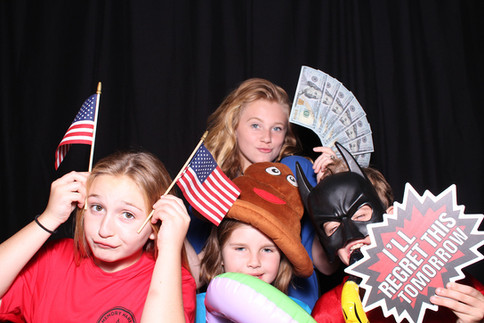 Charity event with photo booth