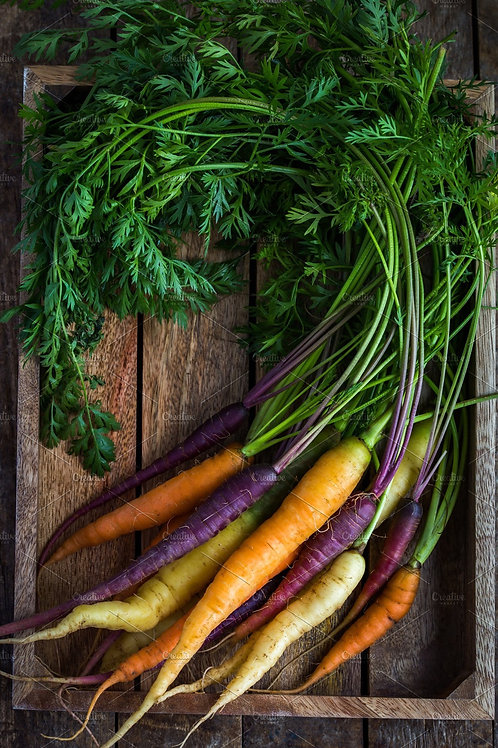 Rainbow carrot bunch