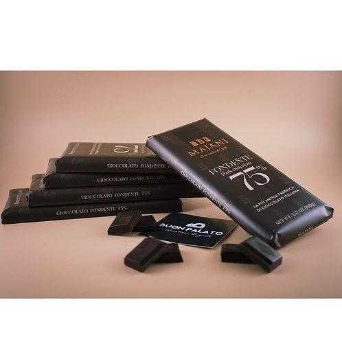 Tavoletta di Cioccolato Fondente 75% 100g