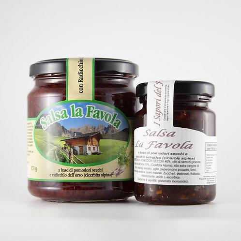 """Salsa """"la favola"""" (Radicchio dell'Orso e pomodori secchi) 100g/300g"""