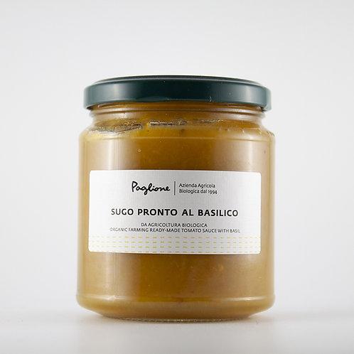 Sugo pronto di Pomodorini gialli Pugliesi e Basilico BIO 290g