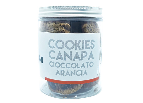 Cookies con Farina di Canapa Cioccolato e Arancia 100g