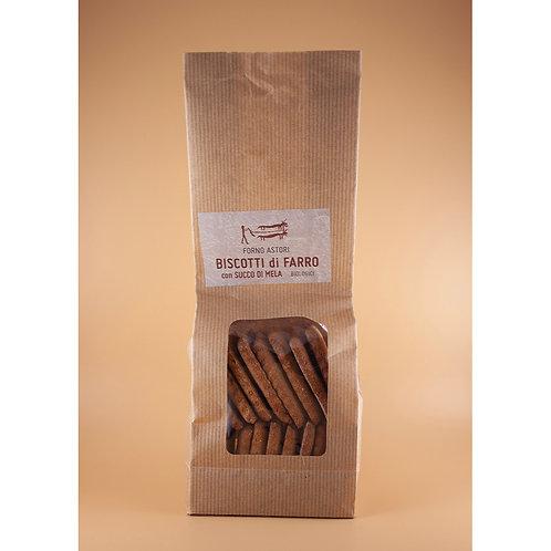 Biscotti di Farro con Succo di Mela 250g